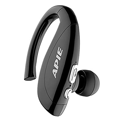 APIE Bluetooth Wireless Headset Ear Hooks Earphones Noise Cancelling In-ear Earbuds With Mic for iPhone and Android