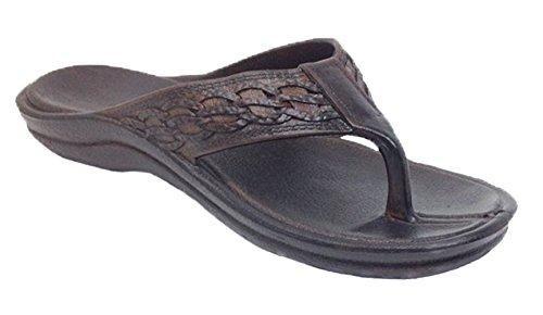 Pali Hawaii Surfer Rubber Sandals (7 D(M) US, Dark Brown)