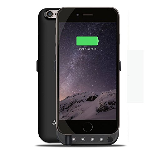 BoxLegend 3000mAh Polymer Battery Charger Charging Case for iphone 6/6s - Black by BoxLegend