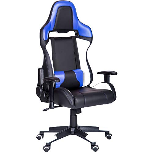 (Gaming Chair -Gaming Chair Carbon Fiber Leather High Back Racing Style Computer Office Chair Ergonomic Desk Chair Swivel Bucket Gaming Chair with Lumbar Support and Headrest)
