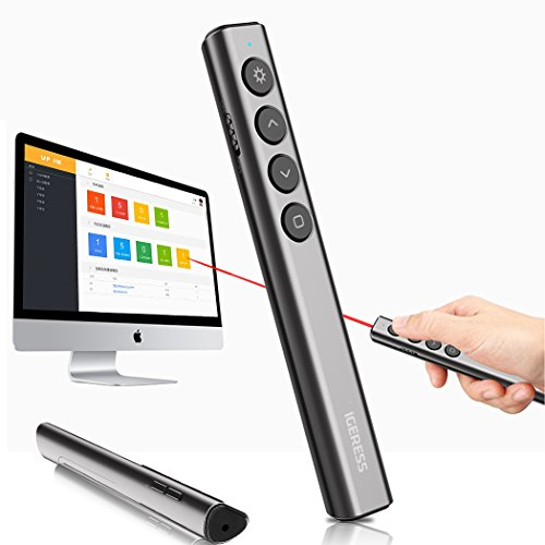 IGERESS Wireless Presenter Remotes PowerPoint Presentation Remote Control with Laser Pointer PPT Clicker by IGERESS (Image #2)