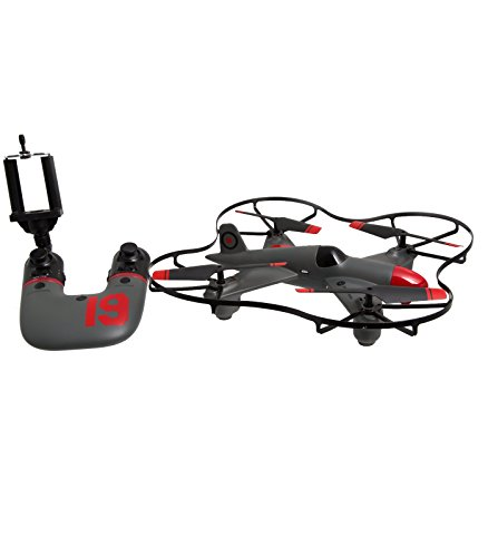 "FAO Schwarz 1004004 Live Video Streaming Coventry Aviation 10"" Drone, Grey/Red from FAO Schwarz"