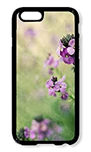 Phone Case Custom iPhone 6 4.7inch Phone Case Field Flowers Black Polycarbonate Hard Case for Apple iPhone 6 4.7inch Case