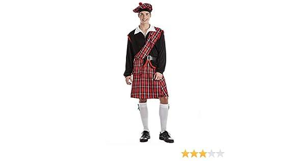 Disfraz de Escocés Talla M/L: Amazon.es: Productos para mascotas