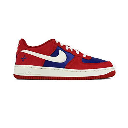 Nike Air Force 1 (GS) Red/White Boys Athletic Basketball Sneaker Shoes ()