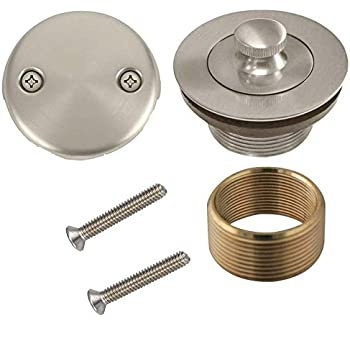 WG-100 Conversion Kit Bathtub Tub Drain Assembly, All Brass Construction (Nickel Finish)