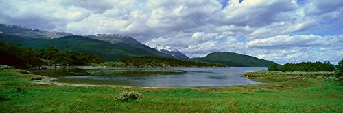 (Posterazzi PPI161228S Panoramic View of Ushuaia Tierra del Fuego National Park and Andes Mountains Argentina Poster Print, 27 x 9 )