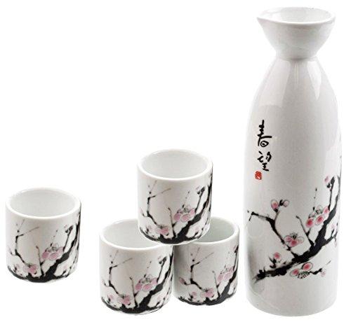 (Happy Sales HSSS-SBC00,  Cherry Blossom Japanese Sake Set)