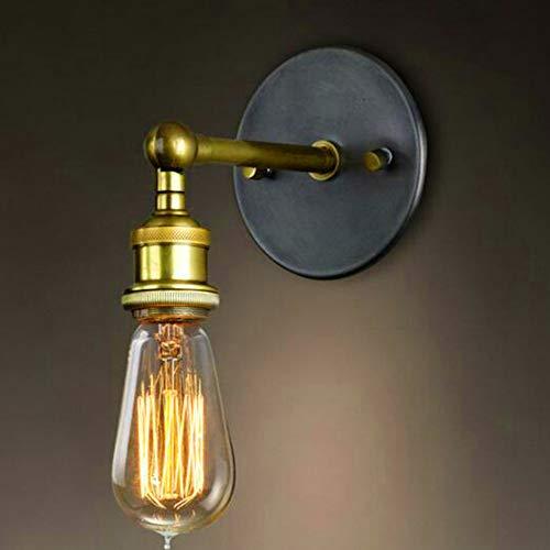 Wankd Vintage metal alambre jaula pantalla lámpara de pared ...