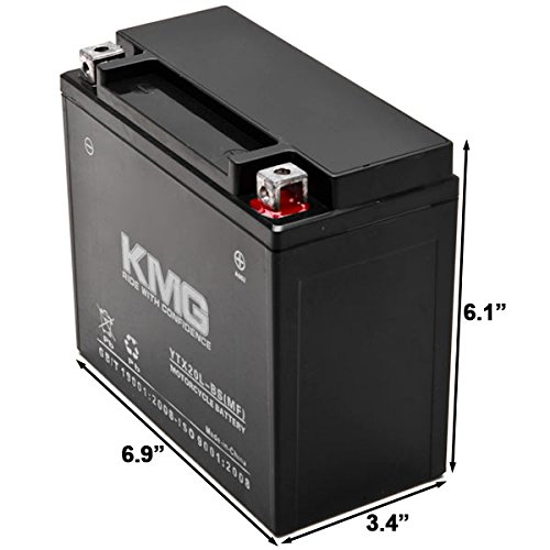 KMG Battery for Polaris 750 Turbo LX 2008-2012 YTX20L-BS Sealed Maintenace Free Battery High Performance 12V SMF OEM Replacement Powersport