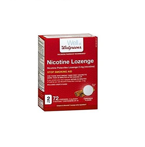 - Walgreens Nicotine Lozenge Cinnamon Flavor 2mg 72 Lozenges