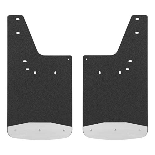 LUVERNE 250933 Rear 12 x 23-Inch Textured Rubber Mud Guards Black Inch Inch Select, 2500, 3500, Dodge Ram 1500