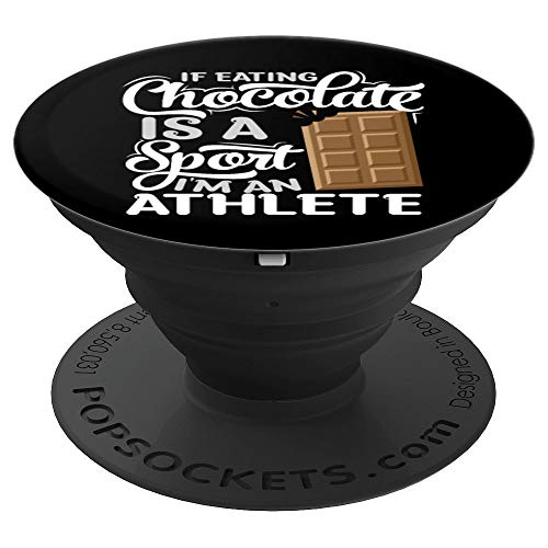 - Chocolate Addicts Gift | Funny Chocoholic Fitness PopSockets Grip and Stand for Phones and Tablets