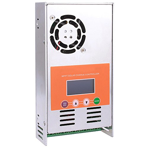 60A MPPT Solar Charge Controller With LCD Display 48V 36V 24V 12V Auto Sense Solar Charger for Vented Sealed Gel NiCd Lithium Battery by cnfinest