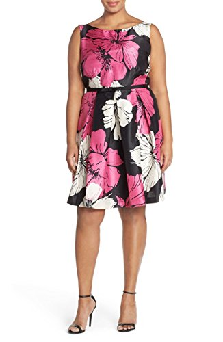 Julian Taylor Womens Plus Size Cut -Out Fit and Flare Dress - Full Figured Dress