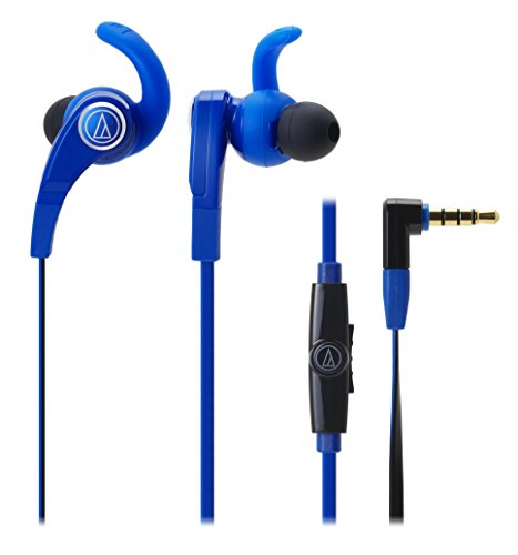 Audio-Technica ATH-CKX7iS SonicFuel In-ear Headphones with In-line Mic & Control For Smartphones (Blue) by Audio-Technica