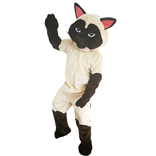 Siamese Cat Mascot Costume Cartoon Character Adult Sz Real Picture ()