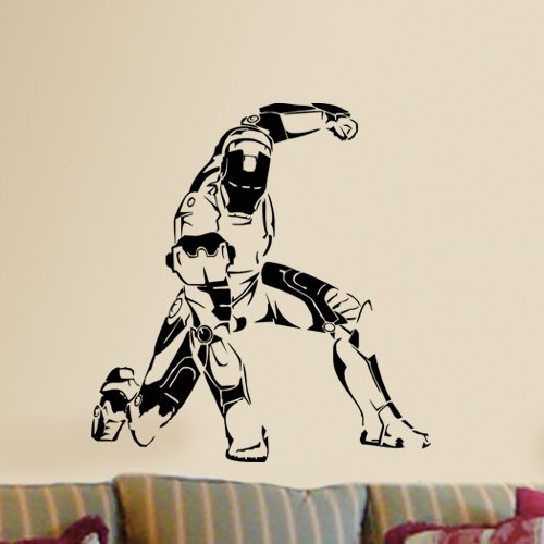 Amazon.com: Iron Man Crouching Marvel Super Hero Silhouette Wall Mural  Vinyl Wall Art Decal Sticker: Home U0026 Kitchen Part 75