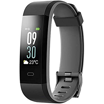 YSCYLY Fitness Tracker Color Screen Smart Wristband Sport Modes Calories Counter Pedometer IP68 Waterproof With Heart Rate Sleep Monitor Estimated Price £64.99 -