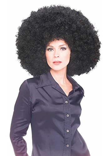 70's Costumes With Afro (Super Big Huge Women's Afro 70's Disco Clown Costume Wig (Black))