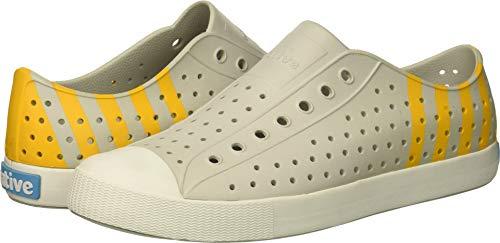 Stripe Beanie Single - Native Shoes Unisex Jefferson Mist Grey/Shell White/Beanie Stripe 10 Women / 8 Men M US