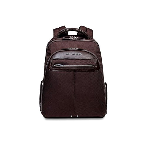 Piquadro Computer Backpack with iPad Compartment, Dark Brown, One Size by Piquadro