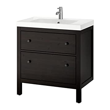 Amazon Com Ikea Sink Cabinet With 2 Drawers Black Brown Stain 31 1