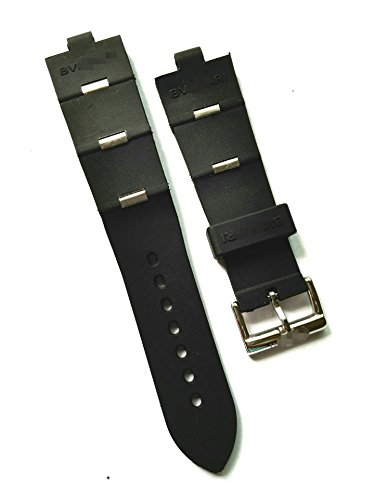 24mm Black Rubber Strap Band Belt Oem Style Fit Bvlgri