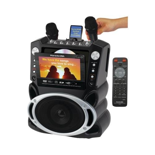 KARAOKE USA GF829 DVD/CD+G/MP3+G Karaoke System with 7 TFT Color Screen ()