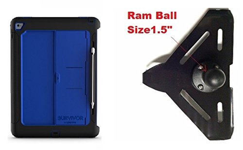 "Price comparison product image SlipGrip RAM 1.5"" Ball Compatible Mount Designed For iPad Pro 12.9 inch Tablet Griffin Survivor Slim Case"