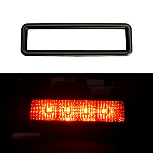 DIYTUNINGS Black Third Brake Light Cover Decal for Jeep Wrangler JK JKU Unlimited Rubicon Sahara X Off Road Sport Exterior Accessories Parts (Parts Unlimited Decals)