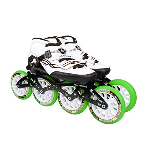 バルコニーそして終わったailj ローラースケート4輪90MM-110MM車輪調整可能なインラインスケート、ストレートスケートシューズ(4色) (色 : イエロー いえろ゜, サイズ さいず : EU 45/US 12/UK 11/JP 27.5cm)