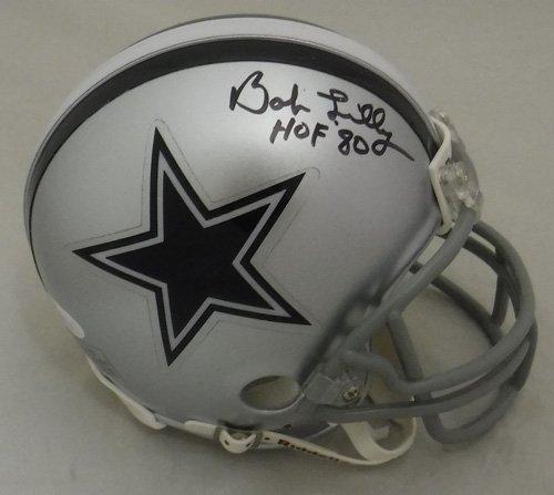 Bob Lilly Autographed Dallas Cowboys Riddell Mini Helmet