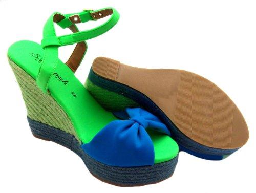 Savannah L6728hw - Alpargatas de tela para mujer verde verde