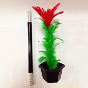 Magic Trick, Jia Jia Trade Magic Props Comedy Flower Feather Sticks/Magic Trick for Kid Show Prop