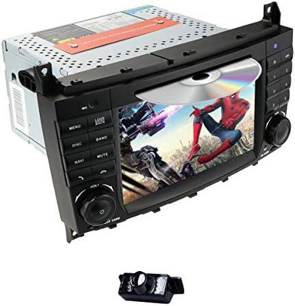 hizpo Android 9.0 車載 DVD カーオーディオ ステレオ メルセデス・ベンツ Cクラス W203 2004-2007 CLC W203 2008-2010 CLK クラス W209 2005-2011用 GPS Navi BT RDSラジオ SWC 4G WiFi + リアビューカメラ対応