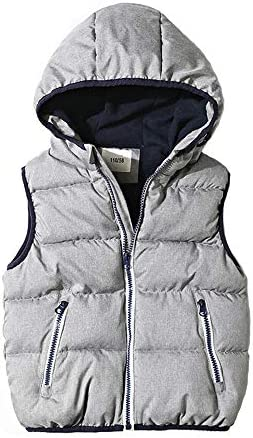 Abalacoco Boys Outwear Hoodie Vest Coat Waistcoat Fleece Lined Thick Full Zip Jacket Daily School Sport Wear