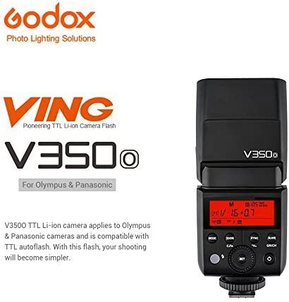 Godox V350 Series TTL 2.4G Li-Ion Camera Flash with Built-in Rechargeable Battery for Canon//Nikon//Sony//Olympus //Fujifilm