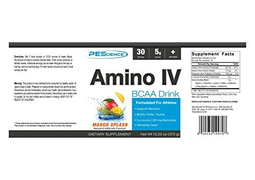 PEScience - Mango amino Splash de la bebida del intravenoso BCAA - 13,23 oz.: Amazon.es: Salud y cuidado personal