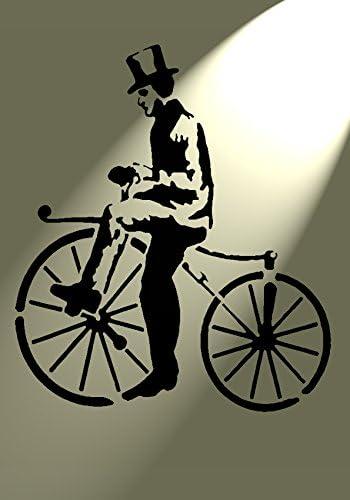 Diseño de letra plantilla de diseño rústico Vintage para bicicleta ...