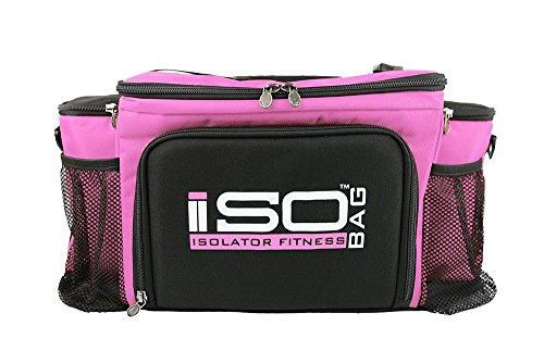 Isobag 6 Meal Reverse Pink/Black
