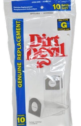Dirt Devil Hand Vac Style G Paper Vacuum Bags,10 Per Pack