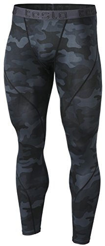 Tesla TM-MUP19-MBK_Medium Men's Compression Pants Baselayer Cool Dry Sports Tights Leggings MUP19