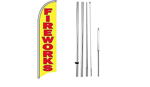 two 2 SALE rainbow 15 WINDLESS SWOOPER FLAGS KIT