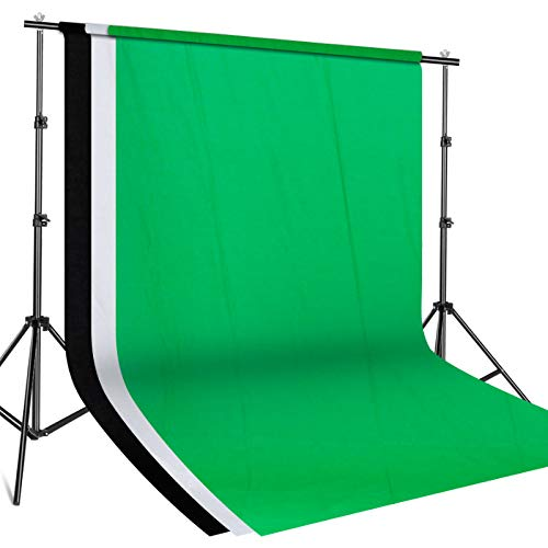 SH 2.6 X 3M Adjustable Background Stand Background Support Kit Removable with Carry Bag for Hanging Background Cloth