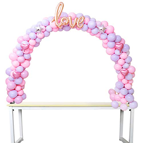 Wmbetter Balloon Arch Kit Balloon Adjustable Column Stand Kit for Birthday Baby Shower Wedding Decorations, Graduation Party Decoration