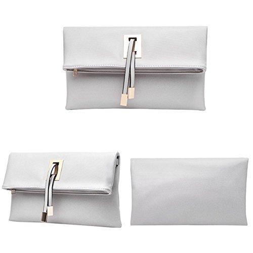 Symbolove Womens Pure Color Crossbody Bag Clutch(C6)