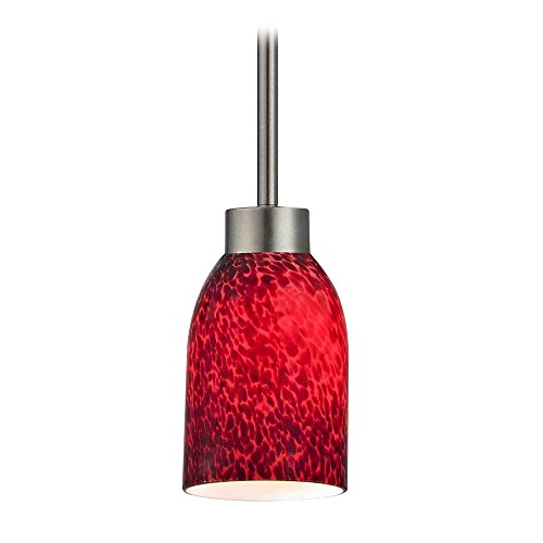 Pendant Light Red Glass in US - 9