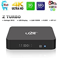 2017 Model Android 7.1 TV Box KUD Z Turbo Amlogic S912 3G RAM 16G ROM Octa Core 3D 4K 2.4G 5G Dual-Band Wifi with LED Display Gigabit 1000M LAN Ethernet