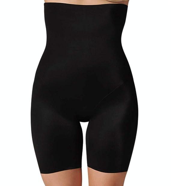 Black or Nude Cupid Fine Slimming Hi Waist Thigh Slimmer